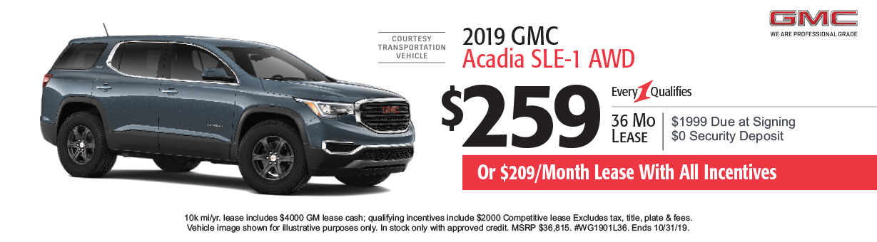 GMC Lease Specials