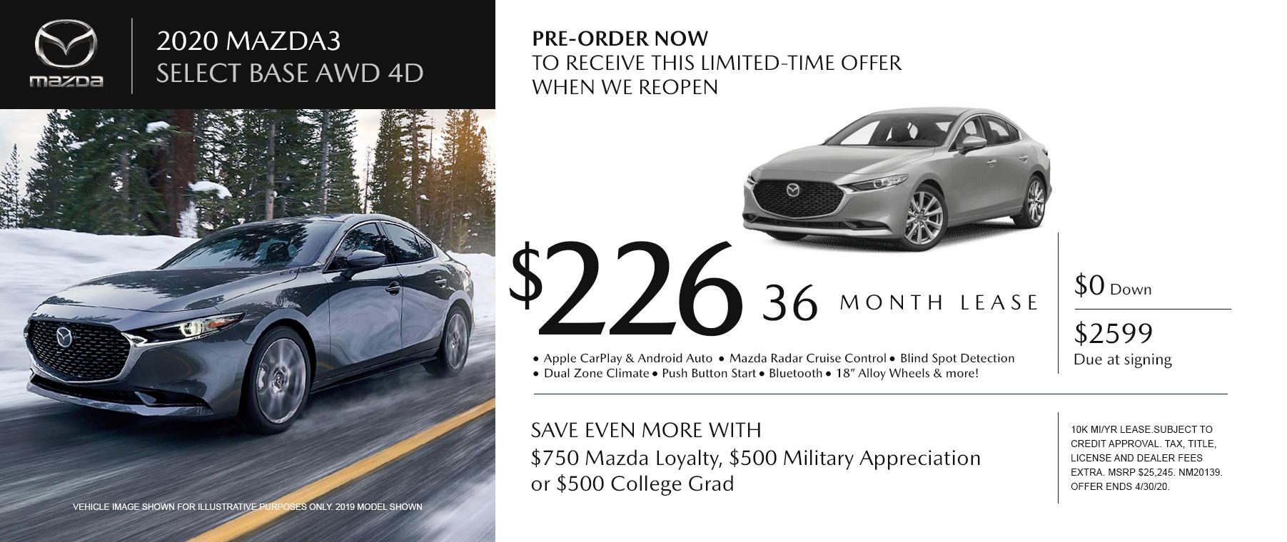 Mazda Lease Specials