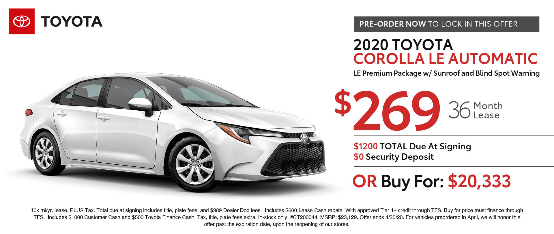 Toyota Lease Specials